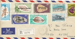 Djibouti 26 Juin 1977 (Recommandé Composé De 10 Timbres Surchargés Localement) Pli RARISSIME  (pour Amateur) - Gibuti (1977-...)