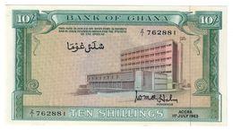 GHANA10SHILLINGS01/07/1963P1UNCReplacement ? .CV. - Ghana