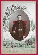 Photographie Cabinet - Studio F. Macagno à Saint-Malo - Portrait D'un Militaire Du 47ème Régiment D'Infanterie - Guerre, Militaire