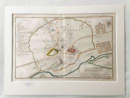 Koper Gravure Griekenland, Plan D' Anthenes 1784 - Carte Topografiche