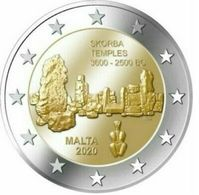 Malta 2euro Cc- Templo Skorba - 2020  Rara  UNC - Malta
