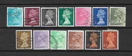 1971 - GRAN BRETAGNA - N. 605/17-618/20-621/22-624/25-627/29-631-640/41-643/45-646/48-650/52 USATI (CAT UNIFICATO) - Used Stamps