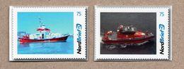 BRD - Privatpost - Nordbrief   -  SAR Schiff Ship - 2 W - MARTHA LERCHE (DK)  Und Bergen (N) - [7] Federal Republic