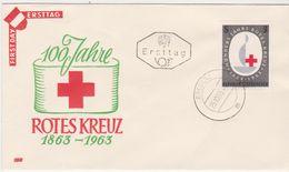 FDC 1963 - Mi 1135 (15) : 100 Jahre Internationales Rotes Kreuz , ST Bregenz - 1961-70 Covers