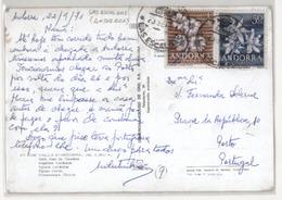 123gone. ANDORRA. 1971. Las Escaldas A Portugal. Franqueo Sello De Flores. Muy Bonita. - Stamps