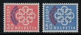 Suisse // Schweiz // Switzerland // 1950-1959 // Europa, Conférence De Montreux Timbres Neufs ** No.349-350 - Gebraucht