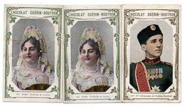Trade Card. Lot De 3 Chromos Chocolat Guérin-Boutron. Souverains De Serbie. - Guérin-Boutron