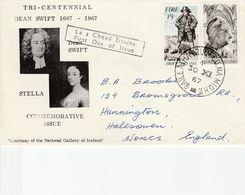 IRELAND 1967 TRI-CENTENNIAL FDC - Lettres & Documents