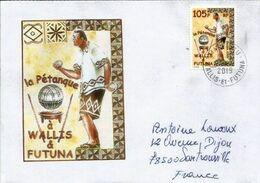 La Pétanque Aux îles Wallis & Futuna (Océanie) ,  Lettre Postée 2019 De MataUtu, Adressée En France - Covers & Documents