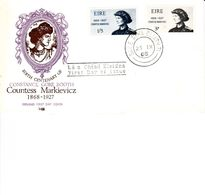 IRELAND 1968 COUNTESS MARKIEVICZ FDC - 1949-... Repubblica D'Irlanda