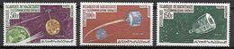 MAURITANIE   -    Aéro   -   1963 .  Y&T N°27 à 29 *.  Espace  /  Cosmos.  Satellites. - Mauritania (1960-...)