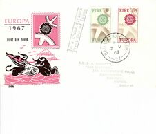IRELAND 1967 EUROPA FDC - Lettres & Documents