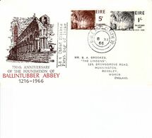 IRELAND 1966 BALLINTUBBER ABBEY FDC - 1949-... Repubblica D'Irlanda