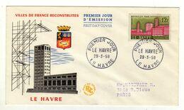 Enveloppe FRANCE 1er Jour Oblitération LE HAVRE 29/03/1958 - 1950-1959