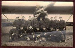 Photo D' Aviation Groupe D' Aviateurs Militaire Avion Aviateur - Aviazione