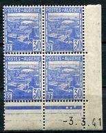 ALGERIE N°163 ** EN BLOC DE 4 DATE DU 3-3-41 - Unused Stamps