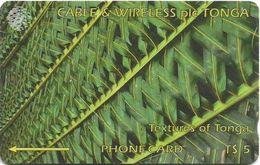Tonga - Textures Of Tonga Green, 185CTGA, 1998, 15.000ex, Used - Tonga