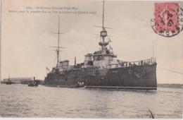 """Bv - Cpa LORIENT - Le Croiseur Cuirassé """"Victor-Hugo"""" Sortant Pour La Première Fois Du Port (16 Octobre 1906) - Lorient"""