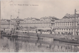 """Bv - Cpa Le """"Dupuy De Lôme"""" En Réparations - Guerre"""