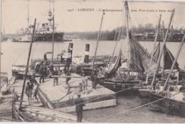 Bv - Cpa LORIENT - L'embarquement Pour Port Louis à Basse Mer - Lorient