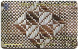 Tonga - Textures Of Tonga White & Brown, 2CTGB, 1994, 10.000ex, Used - Tonga