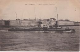 """Bv - Cpa LORIENT - L'Aviso Torpilleur """"lance"""" (au Passage Devant Port Louis) - Lorient"""