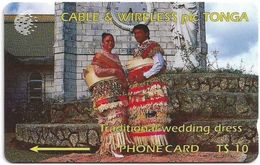 Tonga - Traditional Wedding Dress, 1CTGB, 1994, 5.000ex, Used - Tonga