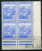ALGERIE N°171 ** EN BLOC DE 4 DATE 30-1-42 - Unused Stamps