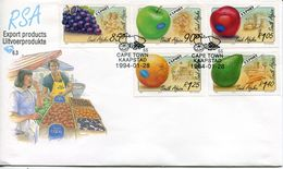 South Africa Südafrika Offizieller/official FDC # 6.3 - Flora Fruits - FDC