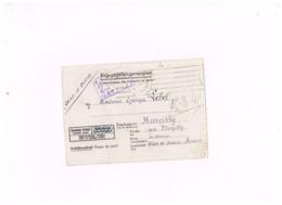 "Censure Allemande Sur Lettre Adressée à Marcilly.""Kriegsgefangenenpost"" .Stalag XVII A - Postmark Collection (Covers)"