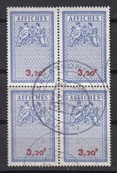 FISCAL TAXE AFFICHAGE VILLE DE CARCASSONNE - BLOC DE 4 - POSTER STAMPS - Revenue Stamps