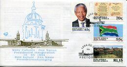 South Africa Südafrika Offizieller/official FDC # 6.3b - Mandela Presidential Inauguration - FDC