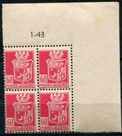 ALGERIE N°176 ** EN BLOC DE 4 DATE DU 1-43 - Unused Stamps