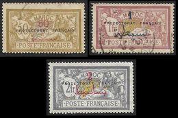 MAROC  1914 - YT  50 - 51 - 52  - Merson  - Oblitérés - Used Stamps