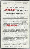 Oorlog GUERRE Leon Verkinder Wervik Gesneuveld Bombardement Te Rottweil < D AUG 1943 Biesbrouck - Devotieprenten