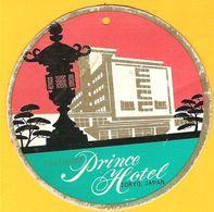 Etiquette Vintage Hotel Takanawa Prince Hotel TOKYO Japan Japon Années 50 - Hotel Labels