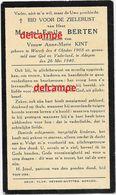 Oorlog GUERRE Marcel Berten Wervik Soldaat Gesneuveld Te Adegem 26 Mei 1940 Kint Maldegem Oostwinkel Zomergem - Devotieprenten