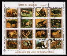 Umm Al-Qiwain 1972 Mi# 1546-1561 A Zd-Bogen (4 X 4) Used - Small Format - Animals - Umm Al-Qiwain