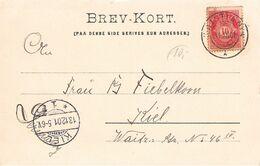 NORWEGEN - ANSICHTSKARTE 1901 CHRISTIANIA - KIEL /ak794 - Briefe U. Dokumente