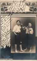 Deux Jeunes Garçons: La Première Cigarette - Edition Vouga & Cie, Serie 50 - Carte Dos Simple N° 5 - Taferelen En Landschappen