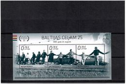 Latvia 2014 . Baltic Chain-25 (Joint EST, LIT). S/S Of 3v X0.78.  Michel # BL 35 - Letland