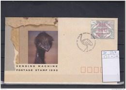 Australien Michel Cat.No. ATM  FDC 21 - ATM/Frama Labels