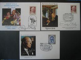Österreich 1980/84/85- 3 Sonderbelege Robert Stolz - 1981-90 Covers