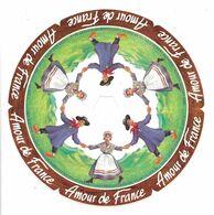 ETIQUETTE De FROMAGE 18,5 Cm...AMOUR De FRANCE Fabriqué En VELAY..Compagnie Fromagère VALLEE De L'ANCE à BEAUZAC (43) - Fromage