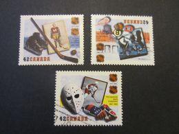 CANADA 1992 MI #1325-1327 HOCKEY NHL COMPLETE SET USED (2) - Usados