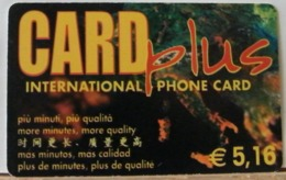 PR89 - PREPAGATA- CARD PLUS INTERNATIONAL CARD . € 5,16 - SCAD -31/03/2003 N° 273400723811 - [2] Tarjetas Móviles, Prepagadas & Recargos