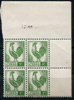 ALGERIE N°219 ** EN BLOC DE 4 DATE DU 12-44 - Unused Stamps