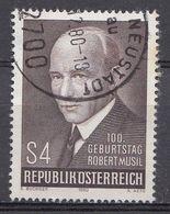 Autriche 1980  Mi.Nr: 1661 Geburtstag Von Robert Musil  Oblitèré / Used / Gebruikt - 1971-80 Oblitérés