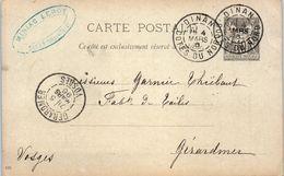 22 DINAN - MINIAC Leroy - Entiers Postaux - Année 1896 - Dinan