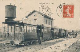 51) TREPAIL : La Gare - Train - Wagon Publicité DUBONNET (1913) (AW) - France